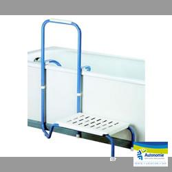 sortie de baignoire pour sécuriser le bain de la personne âgée ou en perte d'autonomie dans ses mouvements