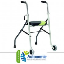 Rollator 2 patins 2 roues