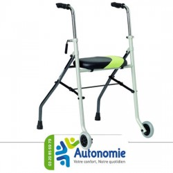 Rollator 2 roues 2 patins